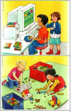 computerhoek en bouwhoek