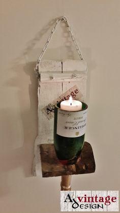 Avintage Design bottle candle holder