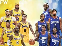 Clippers score: LeBron James, Anthony Davis get help from supporting cast in statement win - News Buddi Lakers Vs Clippers, La Clippers, Free Basketball, Basketball Teams, Los Angeles Clippers, Los Angeles Lakers, Watch Nba, Kyle Kuzma, Nba Stars