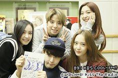 151105 Krystal, Victoria, Amber, Luna f(x) & Ryeowook Super Junior = Kiss The Radio