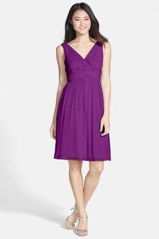 Donna Morgan Chiffon Twist Dress