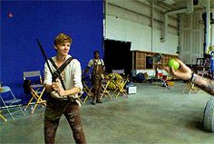 TMR. Newt slicing apples in half holy crap would not be able to do that to save my life