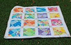 This fun #quilt #pattern can be used to make quilts of all sizes from a small…