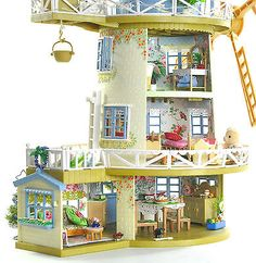 Sylvanian-Families-Decorated-Fieldview-Windmill-House-Furniture-Figures-Lots