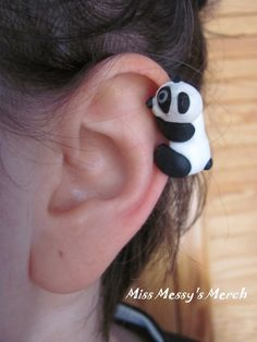 Panda ear cuff by kolkrisz.deviantart.com on @deviantART