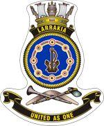 HMAS Larrakia (ACPB is an Armidale class patrol boat of the Royal Australian Navy (RAN). Australian Defence Force, Royal Australian Navy, Ship Paintings, Emblem, Armada, Royal Navy, Armed Forces, Nautical, The Unit