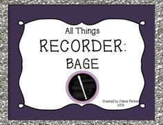"""This 300-page set comes with everything you need to teach B, A, G, and E on the recorder. It comes with 11 songs, slideshows, manipulatives, center ideas, and more! Follow me on TpT for """"Followers Only Freebies."""""""