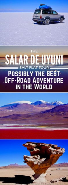 South America adventure highlight- the 3-day Salar de Uyuni Salt Flat tour in Bolivia! Check out our travel guide for tips and advice! #SouthAmericaTravelSalarDeUyuni