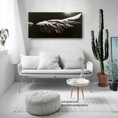 Be Not Afraid Large Acrylic on Wood Angel by CreelArtsAndGraphics