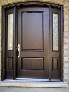 40 Awesome Minimalist Home Door Design Ideas That Look Beautiful Door Design Interior, Wood Front Doors, Door Gate Design, Home Door Design, Exterior Front Doors, House Main Door, Room Door Design, Front Door Design