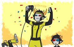 Sollux looks shocked and Mituna is flipping out in the corner :)
