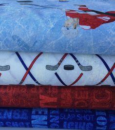 Stonehenge Kids Slap shot. Hockey fabric by by Artsandcrafts4you