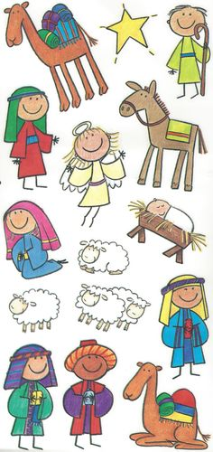 Me &My Big Ideas  Nativity Kids Stickers SP-139. we need these back in production for our nativity blocks.