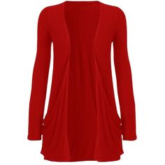 Womens Knitted Long Sleeve Plain Cardigan Sweater Red (54 SAR) ❤ liked on Polyvore featuring tops, cardigans, red, jackets, lullabies, red cardigan, long sleeve cardigan, red top, long sleeve tops and red long sleeve top