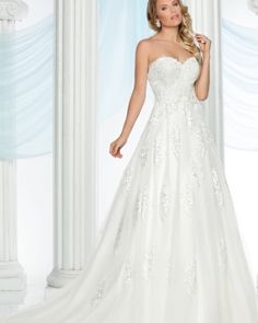 Have your fairytale wedding in this lovely #DaVinci Bridal gown. Style #50434