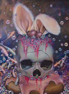 """""""Easter Skull Art by Jade Doreen Waller ☠️"""