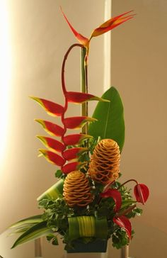 Another of my tropical flower arrangement.