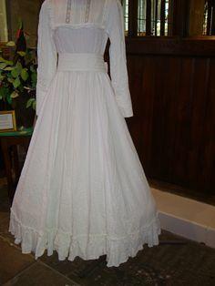 laura ashley vintage ribbon color | ... wedding dress – Moiré taffeta, lace bows and ribbon rosebuds