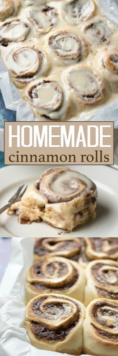 These Homemade Cinnamon Rolls are a true classic. Topped with cream cheese frosting, these gooey cinnamon rolls satisfy your sweet craving! They also make the perfect holiday morning breakfast with the family.