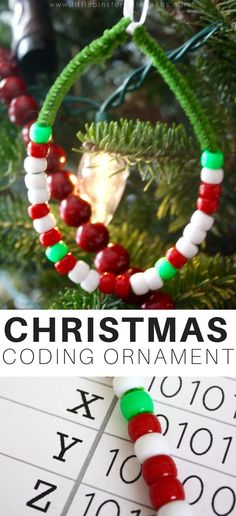 Code without a computer, learn about the binary alphabet, and craft a simple ornament all in one great Christmas STEM activity. Our 25 Days of Christmas STEM countdown is over half way done! Can you believe Christmas is so close? I hope you have been enjoying all of the STEM activities we have been trying out this season. Today's project is a Christmas coding activity, that you can also turn into an ornament! #christmasSTEM #ece #earlylearning #codingforkids