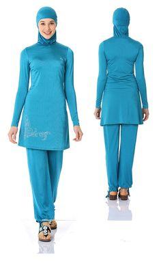 Burkini, Hijab, Tesettür Badeanzug Schwimmanzug Modell Gardenya