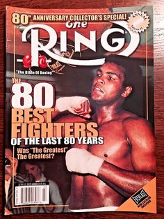 2002 The Ring Boxing Magazine 80th Anniversary -80 Best Fighters-Muhammad Ali