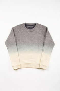 get a sweat shirt and bleach it ... bleach the bottom first an let that sit the longest . then at the end do the middle and let it sit for the least amount of time