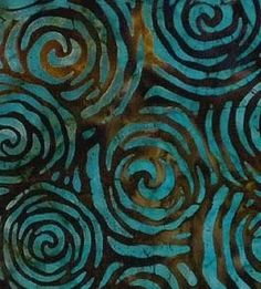interesting batik, like the blues and browns.