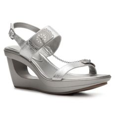 efac0e364eee SALEAndrew Geller Cutour Silver Wedge Faux leather upper. 1  platform. 3   cutout