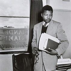 Nelson Mandela in his Law Office, 1952...