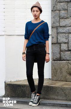 perfect beanie. Korean street fashion
