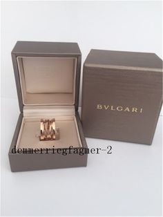 authentic bulgari bvlgari bzero1 18k rose gold ring size 52