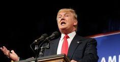 Кандидат  в президенты США от  республиканцев Дональд Трамп  во  время   встречи со сторонниками в Манхейме (штат Пенсильвания) спар...