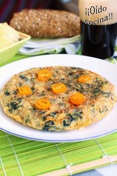 ¡¡Oído cocina!!: Tortilla de espinacas, queso chistorra, cebolla y ...