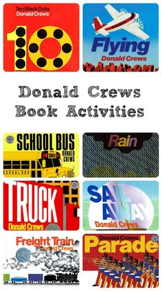 Book activities and teaching resources for books written by Donald Crews