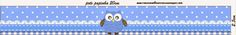 Búho celeste: Etiquetas para Candy Bar para Imprimir Gratis.