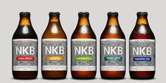 An epic design for an epic craft beer. This is the story of Kerryn and  Craig, two born and bred Kiwis who moved to Sweden. In 2014 they launched  their line of beers, the Nordic Kiwi Brewers (NKB), with the goal of  producing epic craft beers by using the finest hops of their native New  Zealand.