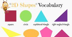 2D Shapes Vocabulary in English 9