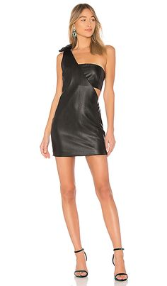 26427b4118349 Shop a great selection of X REVOLVE One Shoulder Faux Leather Dress Endless  Rose. Find new offer and Similar products for X REVOLVE One Shoulder Faux  ...