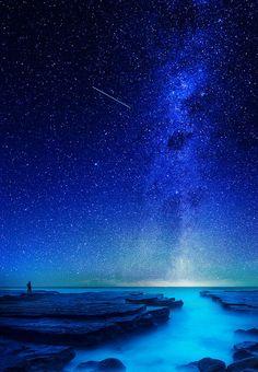 Blue all around! | sky | | night sky | | nature | | amazingnature | #nature #amazingnature https://biopop.com/