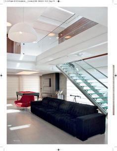 Projeto da Casa Haack, em condomínio fechado em Guaíba/RS/Brasil, assinado pela 4d-arquitetura destacado na Revista Construir 154, de março de 2012.