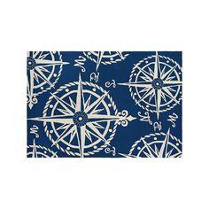 Couristan Outdoor Escape Mariner Compass Indoor Outdoor Rug, Multicolor, Durable