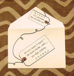 Different ways to address envelopes with style! However, it makes it slow in the mail, because it can't be read by computer-sorting. Just a heads up on that.