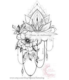 Girly Tattoos, Flower Hip Tattoos, Hip Thigh Tattoos, Floral Thigh Tattoos, Shoulder Tattoos For Women, Sunflower Tattoos, Sleeve Tattoos For Women, Flower Tattoo Designs, Tattoo Designs For Women