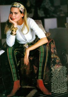 lovely pic of Claudia Schiffer, US Vogue 1990