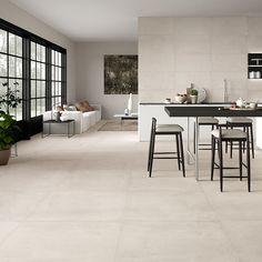 Dom Ceramiche Comfort R White 90 x 90 cm floor tile - - tile # . Dom ceramiche comfort r white 90 x 90 cm floor tile – – Living Room Flooring, Kitchen Flooring, Tile Living Room, Dining Room, Room Interior, Interior Design, Design Design, R White, Ceramic Floor Tiles