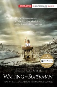 """If you've seen the film, you'll want to get the companion book featuring an essay by Michelle Rhee. 'Waiting for """"SUPERMAN"""": How We Can Save America's Failing Public Schools' also includes a $15 gift card from DonorsChoose.org for you to give to a classroom in need! (price $11.35) #education #reform"""
