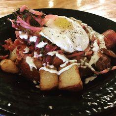 Perfect! Today\'s special: BACON POTATO HASH (with pickled onions jalapeño Mayo and a fried egg) - $8.00 @boca31.denton #baconpotatohash #denton #dentoning #UNT #TWU #foodporn #chefslife #wedentondoit #dentoneats #dentonproud #boca31 #latinflavors #visitdenton #welovedenton #eatlocal #eatfresh #supportlocal #bestofdenton #foodiesindenton