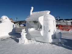 Snow Sculpture Contest the Winner. Food wagon, anyone?