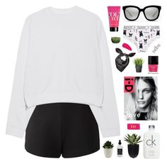 """""""YeahBunny ✨"""" by jesicacecillia ❤ liked on Polyvore featuring T By Alexander Wang, Yeah Bunny, Acne Studios, Calvin Klein, Alexander McQueen, Little Barn Apothecary, Butter London, Christian Louboutin and Casetify"""
